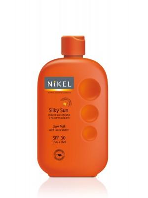 NiKEL Silky Sun za sončenje s kakavovim maslom SPF30 UVA/UVB